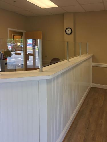 Commercial Office Front Desk Partition 01