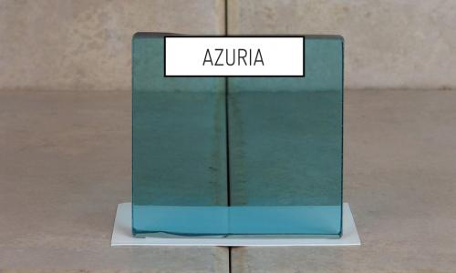 Browns Glass Shop Pattern Glass Shower Enclosure Cabinet Door - Azuria