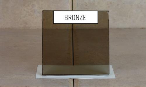 Browns Glass Shop Pattern Glass Shower Enclosure Cabinet Door - Bronze