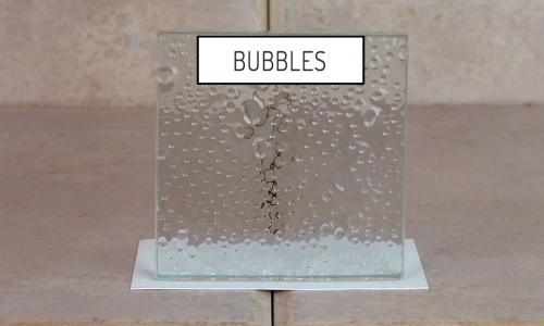 Browns Glass Shop Pattern Glass Shower Enclosure Cabinet Door - Bubbles