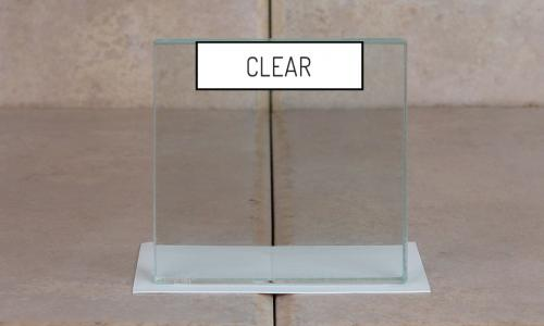 Browns Glass Shop Pattern Glass Shower Enclosure Cabinet Door - Clear