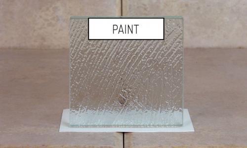 Browns Glass Shop Pattern Glass Shower Enclosure Cabinet Door - Paint