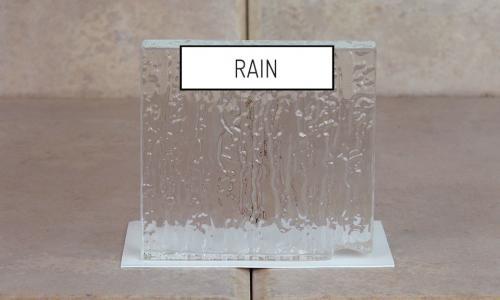 Browns Glass Shop Pattern Glass Shower Enclosure Cabinet Door - Rain