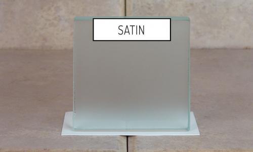 Browns Glass Shop Pattern Glass Shower Enclosure Cabinet Door - Satin
