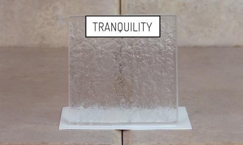 Browns Glass Shop Pattern Glass Shower Enclosure Cabinet Door - Tranquility