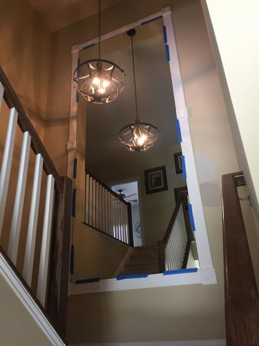 Residential Mirror Stairway Install - after 01