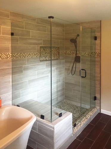 Brown's Glass Shop shower enclosure Bath light-brown Black clear