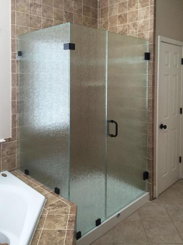 Brown's Glass Shop shower enclosure Bath light-brown black pattern